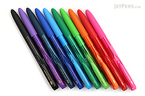 Uni-ball Signo RT1 UMN-155 Gel Pen - 0.5 mm - 10 Color Bundle - JETPENS UNI UMN15505 BUNDLE
