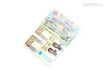 Iwako Play Sheet Paper Model Kit - Train Station & Sea - IWAKO ER-DAI004