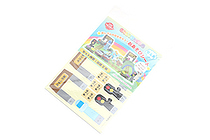 Iwako Play Sheet Paper Model Kit - Train Station & Sea - IWAKO ER-DAI004