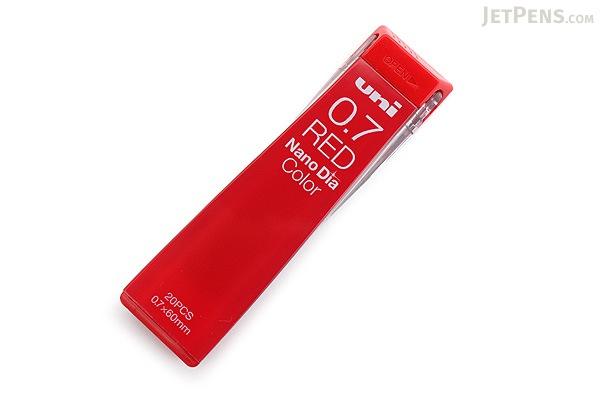 Uni NanoDia Color Erasable Lead - 0.7 mm - Red - UNI U07202NDC.15