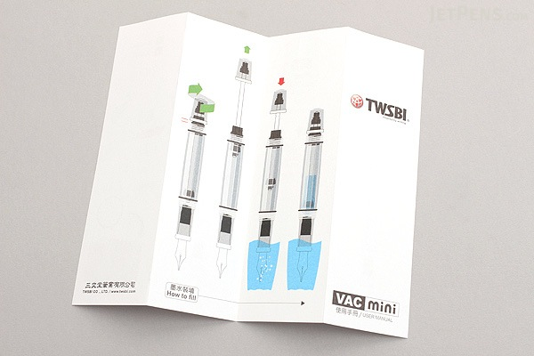 TWSBI Vac Mini Clear Fountain Pen - Fine Nib - TWSBI M7444390