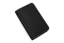 Word Notebooks Leather Notebook Cover - Black - WORD NOTEBOOKS W-NBCOVERBLK