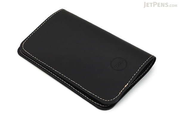 Word Notebooks Leather Notebook Sleeve - Black - WORD NOTEBOOKS W-NBCOVERBLK