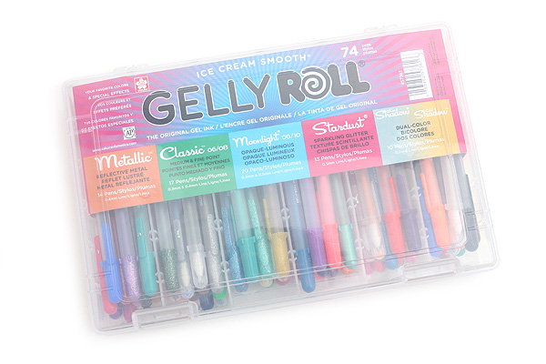 Sakura Gelly Roll Gel Pen 74 Color Set Jetpens Com