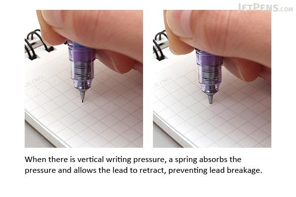 Zebra DelGuard Mechanical Pencil - 0.3 mm - Luminous Violet - ZEBRA P-MAS85-LMV