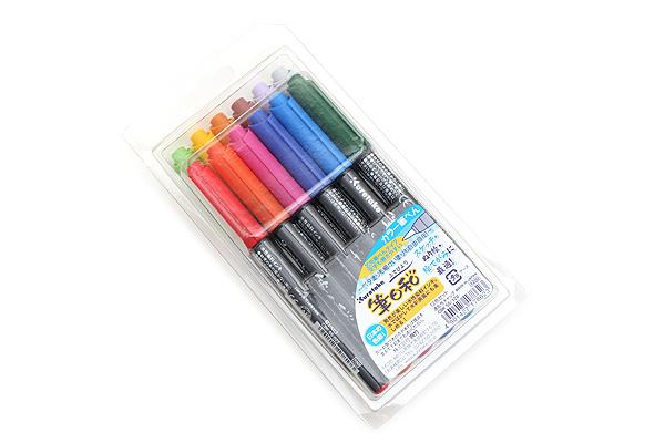 Kuretake Fudebiyori Pocket Color Brush Pen - 12 Color Set - KURETAKE CBK-55-12V