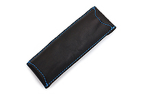 Quiver Double Pen Holder for A6 Pocket Notebooks - Black with Blue Stitching - QUIVER RPH-2-102-BLK-BLU