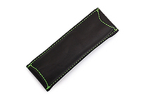 Quiver Double Pen Holder for A6 Pocket Notebooks - Black with Green Stitching - QUIVER RPH-2-102-BLK-GRN