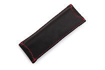 Quiver Double Pen Holder for A6 Pocket Notebooks - Black with Red Stitching - QUIVER RPH-2-102-BLK-RED