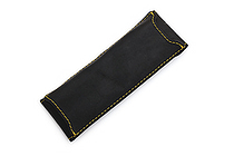 Quiver Double Pen Holder for A6 Pocket Notebooks - Black with Yellow Stitching - QUIVER RPH-2-102-BLK-YLW