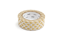 MT Patterns Washi Tape - Dot Gold - 15 mm x 10 m - MT MT01D134Z