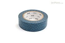 MT Patterns Washi Tape - Flower Crest Hanabishi Tomekon (Blue) - 15 mm x 10 m - MT MT01D279Z