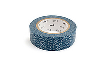 MT Patterns Washi Tape - Flower Crest Hanabishi Tomekon (Blue) - 15 mm x 10 m - MT MT01D279Z