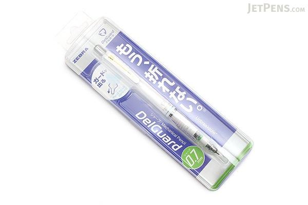 Zebra DelGuard Mechanical Pencil - 0.7 mm - White - ZEBRA P-MAB85-W