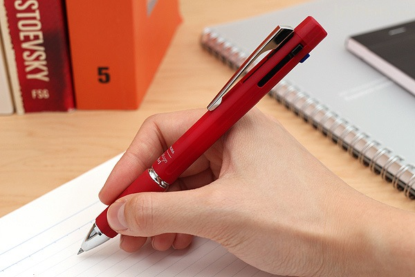 Sakura Ballsign 4*1 4 Color 0.4 mm Gel Multi Pen + 0.5 mm Pencil - Red - SAKURA GB4M1004#19