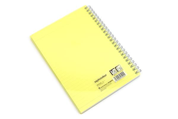 Maruman Sept Couleur Notebook - A5 - 7 mm Rule - Yellow - MARUMAN N572-04