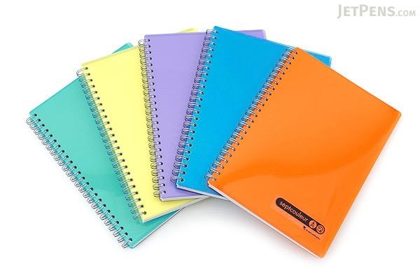 Maruman Sept Couleur Notebook - A5 - 7 mm Rule - Purple - MARUMAN N572B-10