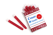 Pilot Namiki Fountain Pen Ink Cartridge - Red - Pack of 6 - PILOT IC50-RED