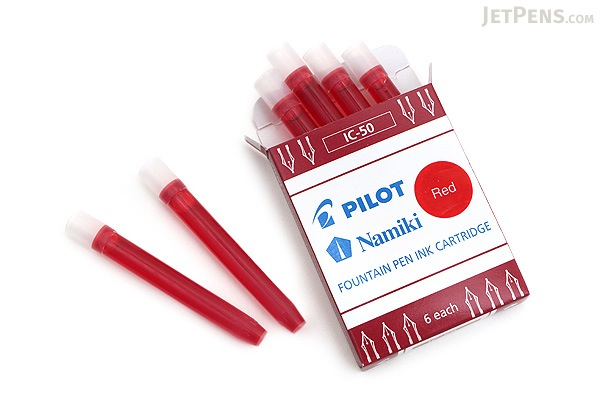 Pilot Namiki Red Ink - 6 Cartridges - PILOT IC50-RED