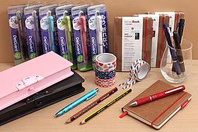 New Products: DelGuard Mechanical Pencils, Sakura Ballsign Multi Pens, Holtz Sensebooks, Pencil Cases, Zipper Tapes, and More!
