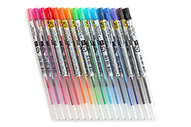Uni Style Fit Gel Multi Pen Refill - 0.38 mm - 16 Color Bundle - JETPENS UNI UMR10938 BUNDLE