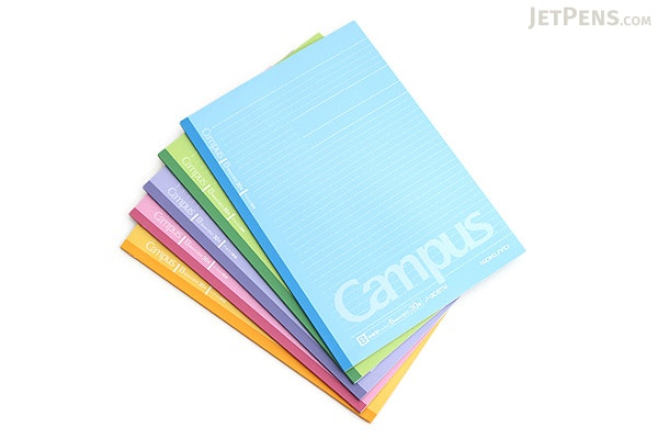 Kokuyo Campus Notebook - Semi B5 - Dotted 6 mm Rule - Pack of 5 Cover Colors - KOKUYO NO-3CBTNX5