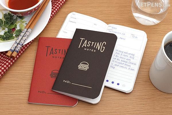"Word Notebooks - Tasting Notes - 3.5"" x 5.5"" - Pack of 3 - Black - WORD NOTEBOOKS W-TASTINGBLK"