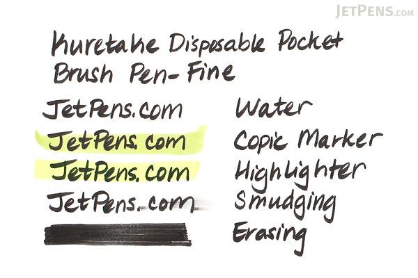 Kuretake Disposable Pocket Brush Pen - Fine - PK2-10S