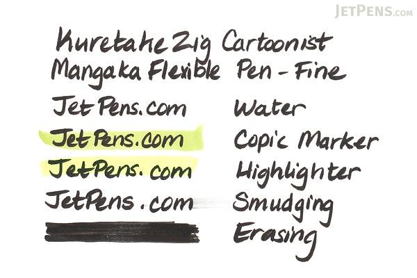 Kuretake Zig Cartoonist Mangaka Flexible Pen - Fine - Black - KURETAKE CNMF-010