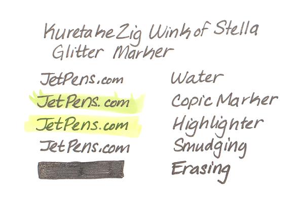 Kuretake Zig Wink of Stella Glitter Marker - 0.8 mm - Yellow - KURETAKE MS-40-050