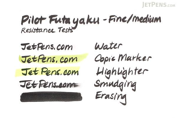 Pilot Futayaku Double-Sided Brush Pen - Fine / Medium - Black Ink - PILOT SVW-20KSN-B
