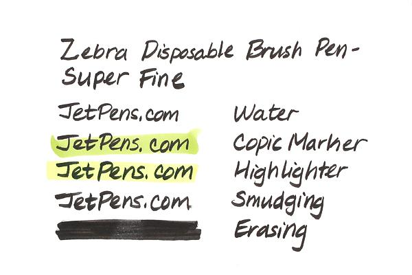 Zebra Disposable Brush Pen - Super Fine - ZEBRA WFSS4