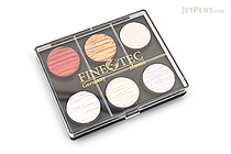 Finetec Artist Mica Watercolor - Pearl - 6 Color Set - FINETEC M600S