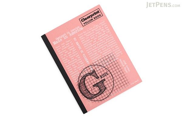 "Clearprint Vellum Book 1000H - 6"" x 8"" - Grid - CLEARPRINT CVB68G"