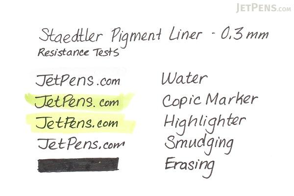 Staedtler Pigment Liners Marker Pen - Set of 4 Line Widths - Black - STAEDTLER 308 A6 WP403