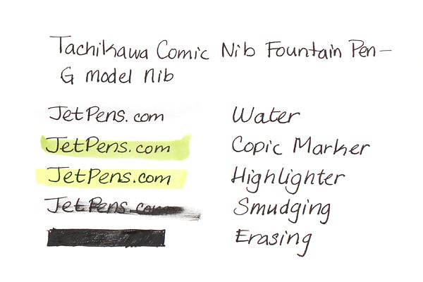 Tachikawa Comic Nib Fountain Pen - G Model Nib - Fine - Black Ink - TACHIKAWA NP-40ABK-F
