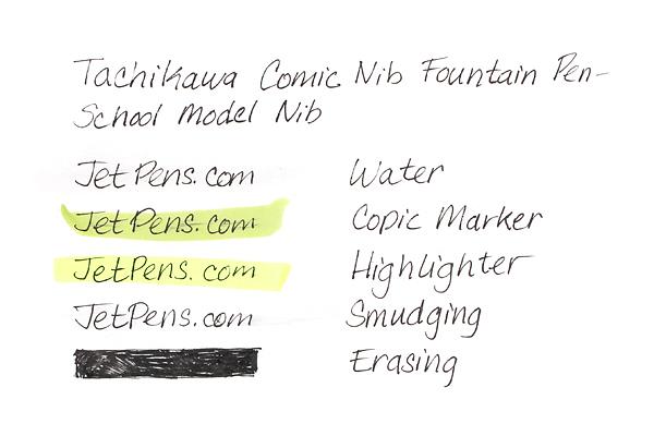Tachikawa Comic Nib Fountain Pen - School Model Nib - Extra Fine - Black Ink - TACHIKAWA NP-40ABK-EF