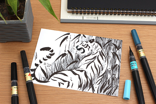 Pentel Standard Brush Pen - Medium Tip - PENTEL XFL2L