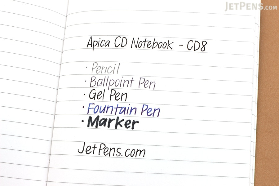 Apica CD Notebook - CD8 - B7 - 6 mm Rule - Yellow - APICA CD8Y