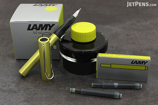 Lamy Al-Star Fountain Pen - Charged Green  - Fine Nib - LAMY L52F