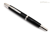 Pilot Vanishing Point Fountain Pen - Black with Rhodium Trim - Broad Nib - PILOT 60342