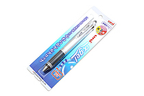 Uni Alpha Gel 2 Color 0.7 mm Ballpoint Multi Pen + 0.5 mm Pencil - Black Grip - UNI MSE1007GG1P24