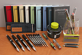New Products: TWSBI Green Diamond AL Fountain Pens, Lamy Charged Green Ink, Apica CD Notebooks, Kaweco Demin Pouches, and More!