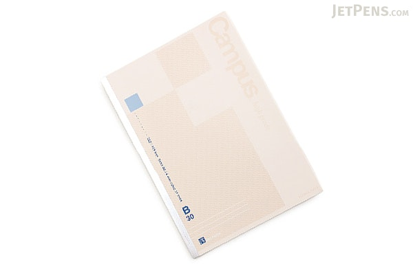 Kokuyo Campus High Grade MIO Paper Notebook - B5 - 6 mm Rule - Blue Accents - KOKUYO NO-GG3B