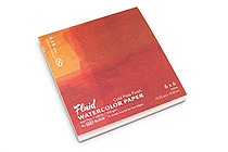 "Global Art Fluid Watercolor Paper Easy-Block - Cold Press - 6"" x 6"" - GLOBAL ART 880066"