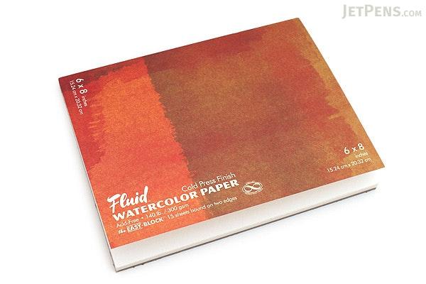 "Global Art Fluid Watercolor Paper Easy-Block - Cold Press - 6"" x 8"" - GLOBAL ART 880068"