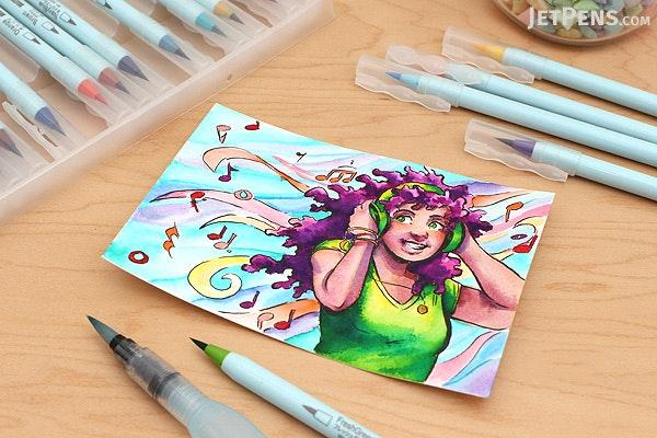 Deleter Neopiko 4 Watercolor Brush Pen - Brown (W-010) - DELETER 311-4010