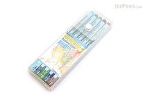 Deleter Neopiko 4 Watercolor Brush Pen - 5 Color Set B - DELETER 311-405B