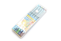 Deleter Neopiko 4 Watercolor Brush Pen - 5 Color Set B - DELETER 311-405B