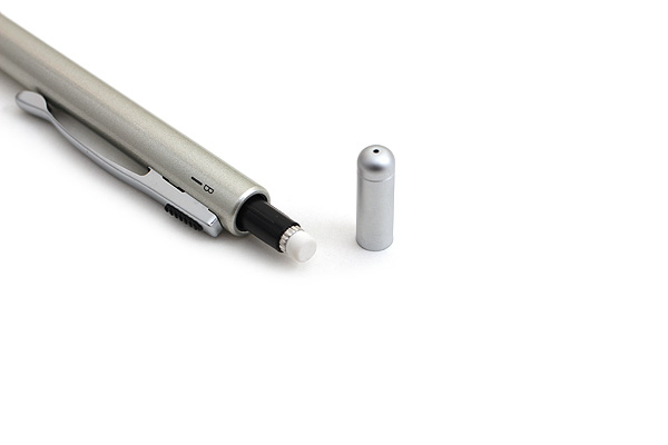 Pilot 2+1 Slim 2 Color 0.7 mm Ballpoint Multi Pen + 0.5 mm Pencil - Silver Body - PILOT BKH-2SR-S